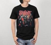 Slipknot Graphic Schwarz T-Shirt Nu Heavy Metal Rockmusik Band Konzert Tour S-2XL Marke Baumwolle Männer Kleidung Männlich Slim Fit T-shirt