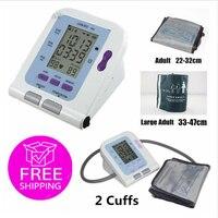 CE FDA CONTEC08C with 2 Cuff Digital blood pressure monitor SPO2 sensor +2 NIBP Cuffs ,pc software