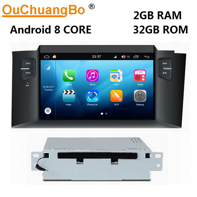 Ouchuangbo <font><b>android</b></font> 8.0 car media radio mirror link for <font><b>Citroen</b></font> <font><b>C4</b></font> C4L 2011 <font><b>2012</b></font> 2013 with GPS 1080P video 8 Core 2GB+32GB S200 image