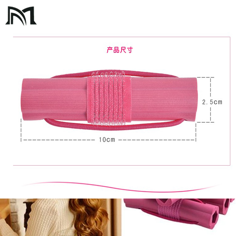 Self adhesive plastic sponge hair rollers Sleep flexi rods hair curlers rollers magic Hairdresser hair curlers tool sleep styler