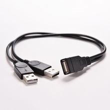 USB 2.0 여성 2 듀얼 USB 남성 허브 전원 어댑터 Y 분배기 케이블 코드 새로운