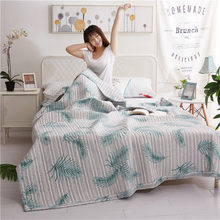 Printed Bedspread Soft Comfortable Comforter Solid Adult Bedding Colorful Duvet Washable Cotton Air-conditioned Summer Quilts