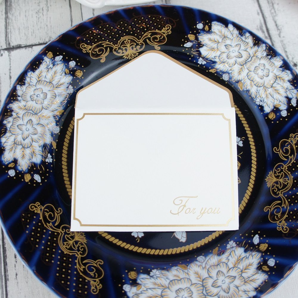 25set gold thank you fold card style Thanksgiving Day Card send Lucky Love Christmas Party cards Invitation with envelope in Cards Invitations from Home Garden