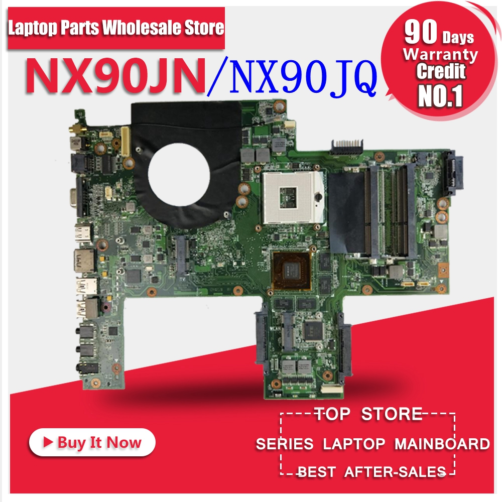 NX90JQ mainboard Support i7 cpu For ASUS NX90J NX90JN REV:2.0 laptop motherboard 100% Tested Working