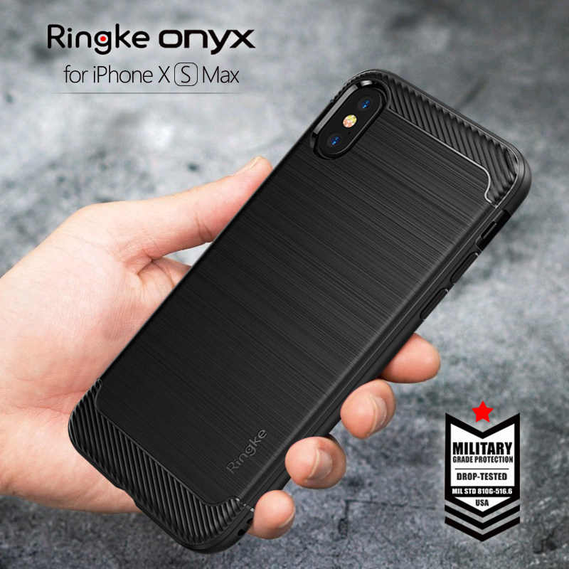 cheap for discount d6c6b 204b2 Ringke Onyx for iPhone XS MAX Case Flexible Tpu Cover Case Fitted Case  Military Grade Protection Black Case for iphone XS