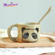 Jingdezhen Handmade Original Ceramic Coffee Cup Hand-knotted Hand-painted Panda Japanese Style Mug Accessories Drink