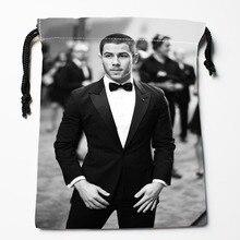 New Custom Nick Jonas Bags Custom drawstring Bags Printed gift  drawstring bag 27x35cm Compression Type Bags