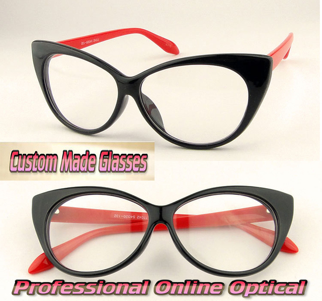 Cat-eye shape occasions essential Custom made optical Myopia Reading glasses -1  -1.5 -2 -2.5 -3 -3.5 -4 .0 -4.5 -5 -5.5 -6