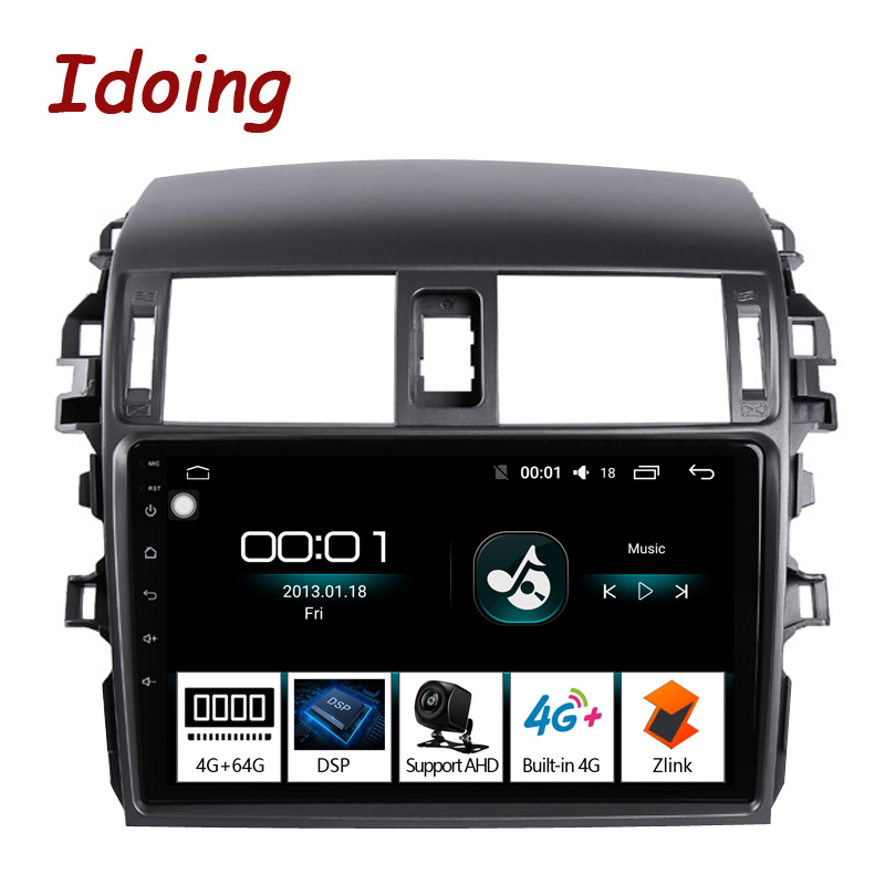"Flash Deal Idoing 9""Car Multimedia Video Player Navigation GPS Android8.1For Toyota Corolla E150 140 2008-2013 Navigation Radio NO 2DIN DVD 0"