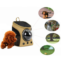Portable Travel Accessory Space Capsule Transport Dog Bag for Small Puppy Pet Cat Carrier Backpack Cage