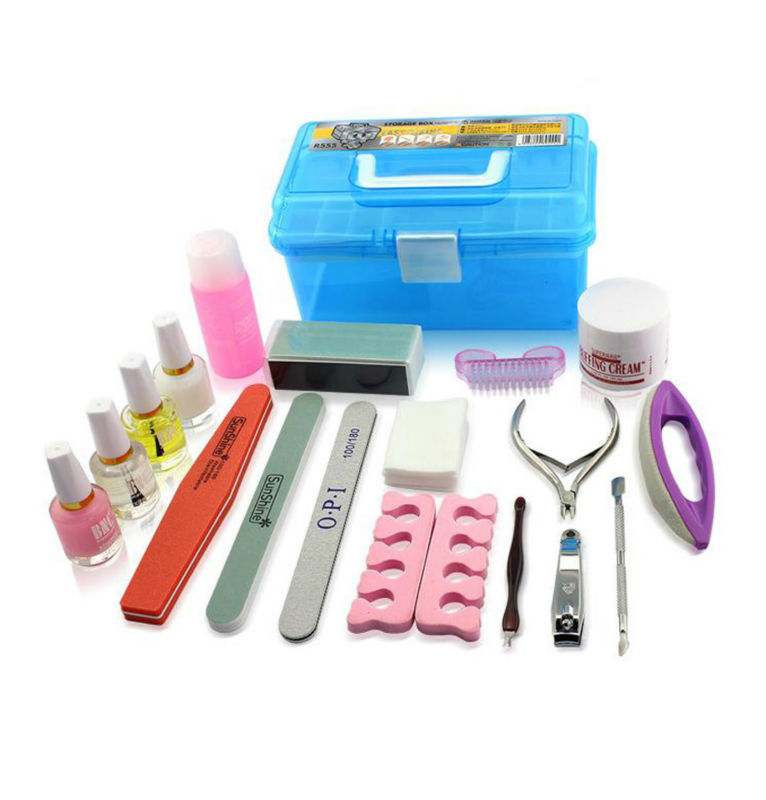 Free Shipping Acrylic Nail Kit Basic Supplies Manicure Nails Trimmed ...