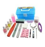 Gratis Verzending Acryl Nail Kit Basic Levert Manicure Nagels Getrimd Armor Past Groothandel Totaal van 20 Pics
