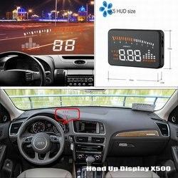 Wyświetlacz samochodowy HUD Head Up dla Audi A5/S5/RS5 2010 2020 zmodyfikowany ekran projektora bezpiecznej jazdy informacje zwrotne szyba przednia w Wyświetlacz projekcyjny od Samochody i motocykle na