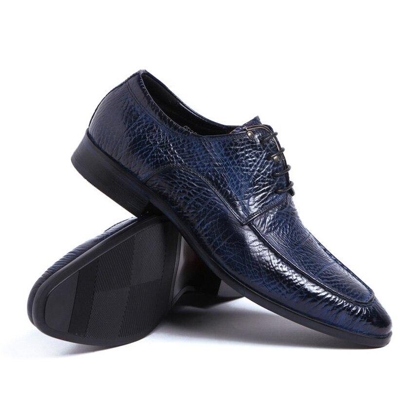 Pointu Arrivée Cuir Formelle Noir Robe bleu Chaussures Hommes Véritable De Bout Ymx425 Homme Derby Mariage Nouvelle Vintage up Dentelle Italien Partie PxHqa8wCwd