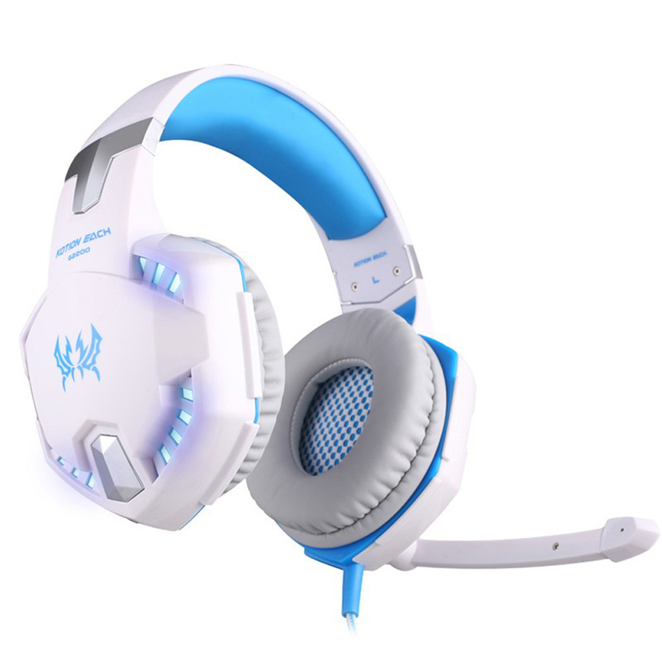 ФОТО Ecouteur EACH G2200 Pro Gaming Headphone Online Game LED Headset Surround Sound Feel With Mic Microphone