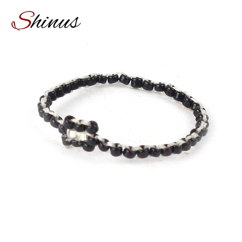 shinus womens rings creative wedding bands hot punk rings boho seed beads jewelry handmade gift for - Creative Wedding Rings