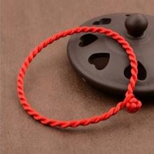 1 Piece 3mm Red Thread String Bracelet Lucky Handmade Rope Bracelets for Women Men Jewelry Lover Couple Christmas gifts