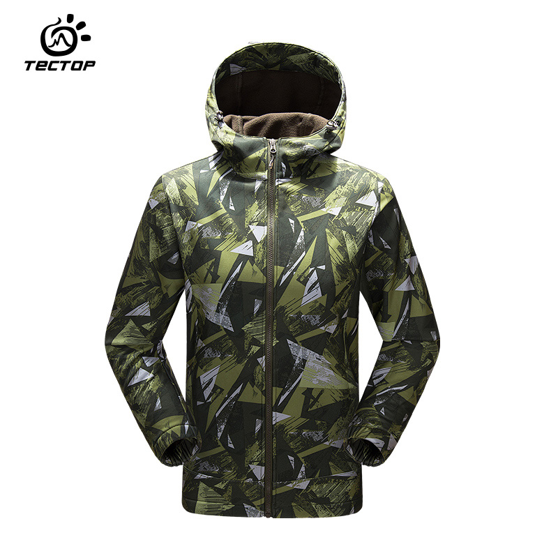 Tectop Soft Shell Jacket Male Outdoor Military Tactical Jacket Waterproof Windproof Sports hiking Army camouflage jacket
