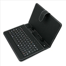 цена на Case with Keyboard 9 inch for Samsung PU Leather Smart Cover Case Black Business Typing for Lenovo Micro USB Holder Fashion Gift
