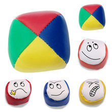 Children Outdoor Toys Kids PU Cartoon Rainbow Smiley Small Sandbag Sports Toys Baby Classic Bean Bag Sports Toys 1(China)