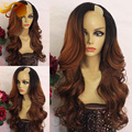 2T #1B/33 Glueless Lace Front Human Hair Wigs Body Wave Brazilian Virgin Hair U Part Wig Ombre Color U Part Human Hair Wigs