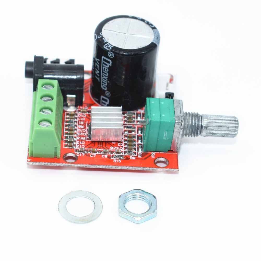 12V Mini Hi-Fi PAM8610 Audio Stereo Amplifier Board 2X10W Dual Channel D  Class Lowest Price