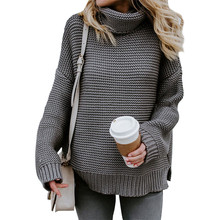 Knitted Sweater Women Autumn Winter Turtleneck Pullover Sweaters Fashion 2018 Long Sleeve Warm Jumper Casual Vintage Top Femme
