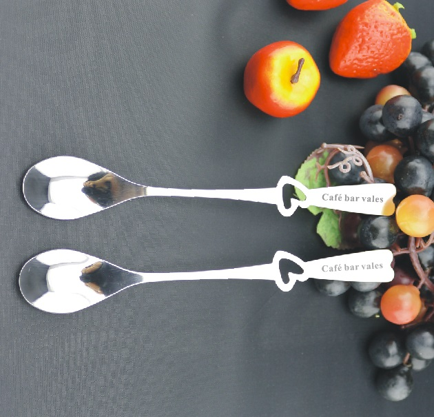 Your logo is free to engrave on classical long coffee spoons 50pcs a lot custom free