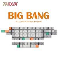 Big Bang MDA Profile Ortholinear Keycaps 101 Key Dye Base Thickness PBT Ortholinear For Mechanical Keyboards
