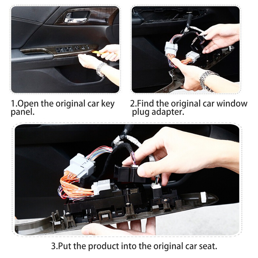 Universal Car Power Window Roll Up Closer For 4 Doors Auto Close Chair Wire Harness 1 3 2 5