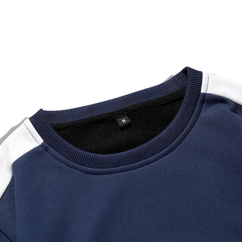 Tracksuits Men 2PC Outwear Sportsuit Sets Male Sweatshirts Men Set Clothing+Pants Hoodies Plus Size Moleton Masculino Coats 2019