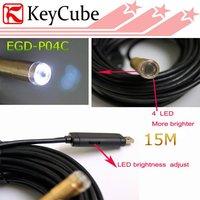USB Cable Wire Camera Snake Borescope Camera Cam 4 LED Endoscope Camera 15 M Free Shipping