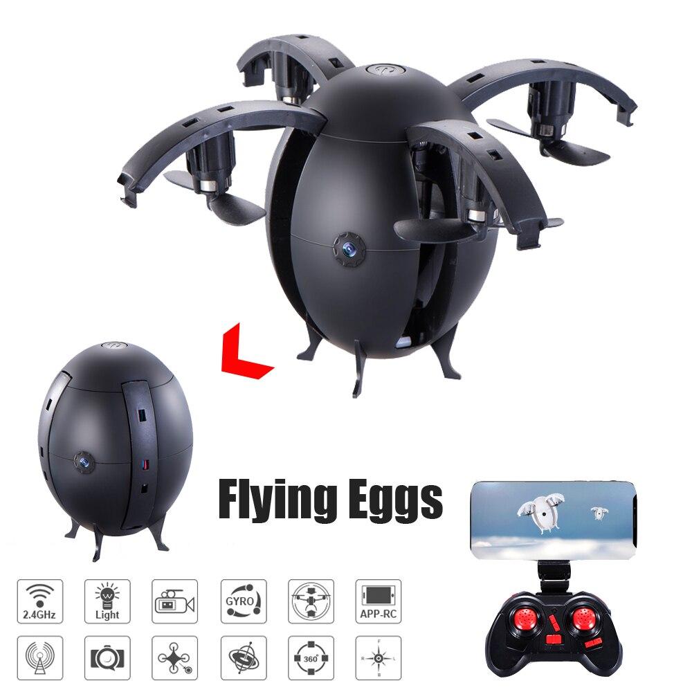 Юйсян 668-a6hw Складной Летающий яйцо Drone 2.4 г селфи Дрон Радиоуправляемый квадрокоптер w/0.3mp/2.0mp Wi-Fi FPV-системы высота удерживайте 3D переворачивает RTF