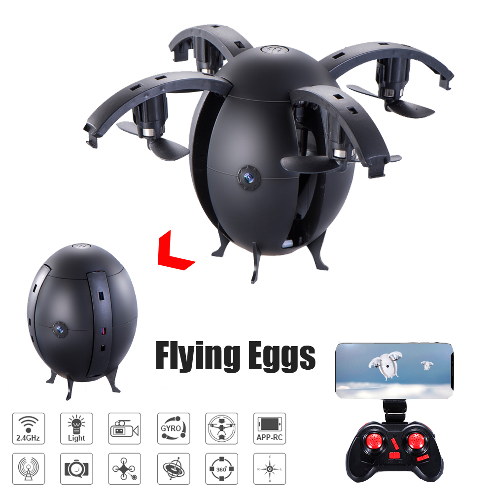 YUXIANG 668-A6HW Pliable Volant Oeuf Drone 2.4G Selfie Drone RC Quadcopter w/0.3MP/2.0MP Wifi FPV Maintien D'altitude 3D Flips RTF