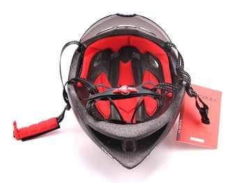 CAIRBULL Aero TT แผนที่หมวกกันน็อคจักรยานแว่นตาจักรยานกีฬาความปลอดภัย TT หมวกนิรภัย-แม่พิมพ์ Goggle หมวกนิรภัย