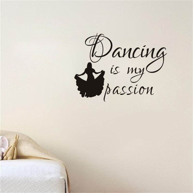 Dancer Girl Vinyl Wall Decal Quotes Dancing Is My Passion Art