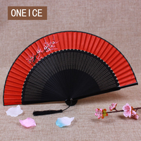 ONEICE משלוח חינם חתונת כלה יד אדומה גדולה בסגנון סיני אוהד מתקפל בסגנון יפני MS מתנה בעבודת יד משי אמיתי