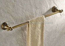 цена на Antique Brass Wall Mounted Single Towel Bar Towel Rack Towel Holder Bathroom Accessories Kba423