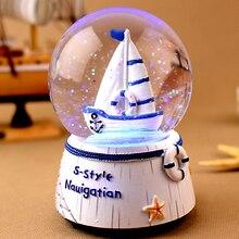 The crystal ball music box music box birthday girl bestie send children to children teachers' Day gift