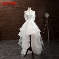High Low Wedding Dress Short Front Long Back Ruffle Tulle Sweetheart Bridal Wedding Gowns Weddingdress