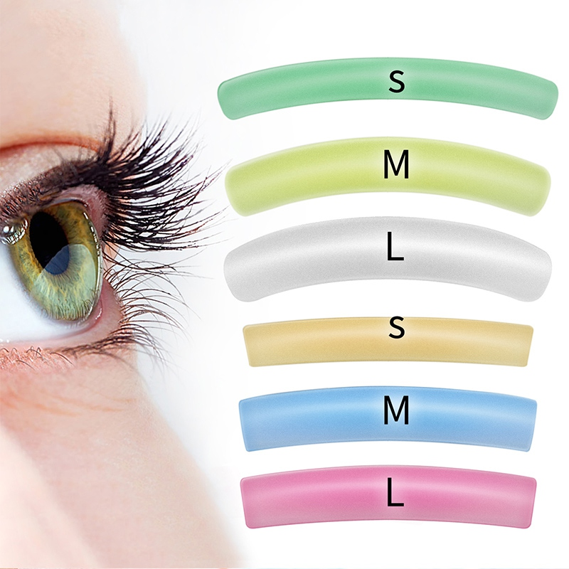 New Colorful Flat&Curl Lashes Patches Reusable Silicone Gel Eye Pads Eyelash Perm Lifting Cilia Tools 6 Colors