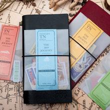 Ensemble d'autocollants japonais Vintage de voyageur pour carnet de Notes, 40 pièces, pour planificateur de voyage Midori, papeterie pour journal intime