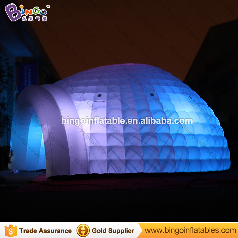 8M/26Feet giant inflatable igloo dome tent with led lighting color changing, big outdoor party tent 8*4m toy tent inflatable cartoon customized advertising giant christmas inflatable santa claus for christmas outdoor decoration