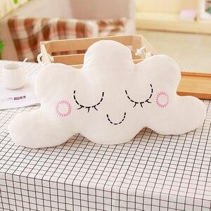 Image 5 - かわいいスカイシリーズぬいぐるみムーン、スター雲ちょう結びぬいぐるみおもちゃソフトクッション素敵なベビー睡眠枕の装飾