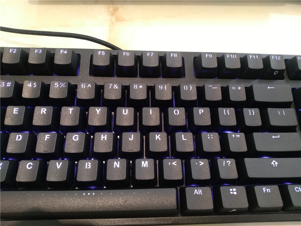 IKBC F87 TKL mechanical keyboard tenkeyless PBT cap blue led cherry mx switch brown blue White