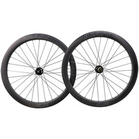 ICAN bicycle wheelset 50C 25mm width clincher carbon disc wheel 700c