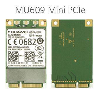 Karstā pārdošana HUAWEI MU609 WCDMA Mini PCIe HSPA + / UMTS quad-band 850/900/1900/2100 MHz M2 bezvadu wifi karte 3G modulis bezmaksas piegāde