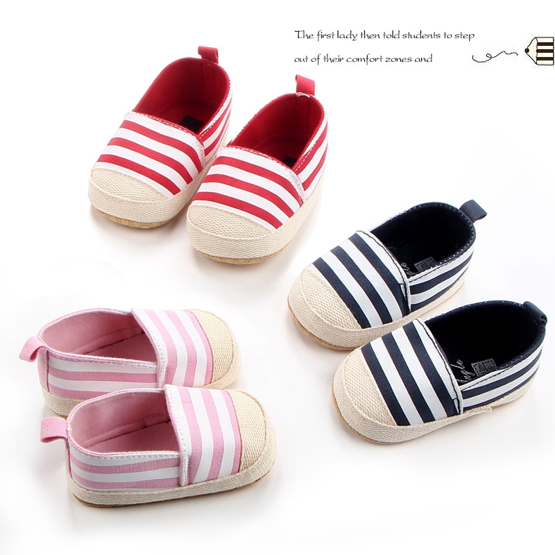 Baby Non-slip Shoes  Crib Shoes Infant Hemp Material Canvas Shoes  Infant Prewalker Shoes