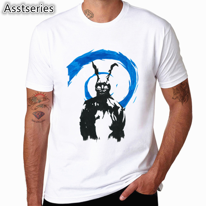 Fashion Men Print Donnie Darko IED ZT PST White T-shirt O-Neck Short Sleeve Summer Streetwear Casual Top Tee Cool T Shirt