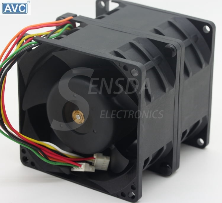 original AVC DFTA0880Y2U DC 12V 7.2A 80*80*80mm 8cm 8080 car booster violence powerful server cooling fans original delta aub0812vhb 8015 8cm 80mm dc 12v 0 30a slim chassis power supply cooling fans cooler